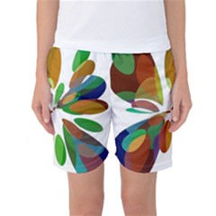 Colorful abstract flower Women s Basketball Shorts