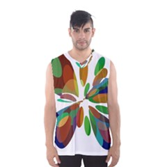 Colorful Abstract Flower Men s Basketball Tank Top