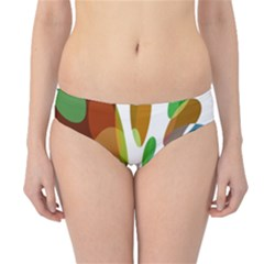 Colorful abstract flower Hipster Bikini Bottoms