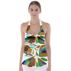 Colorful abstract flower Babydoll Tankini Top