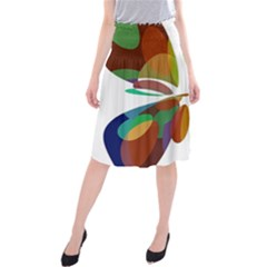 Colorful abstract flower Midi Beach Skirt