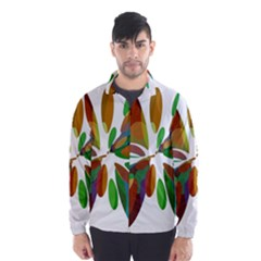 Colorful abstract flower Wind Breaker (Men)