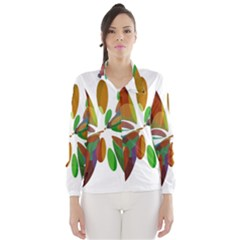 Colorful abstract flower Wind Breaker (Women)