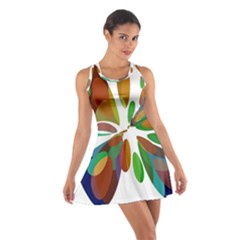 Colorful abstract flower Racerback Dresses