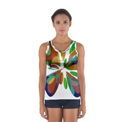 Colorful Abstract Flower Women s Sport Tank Top