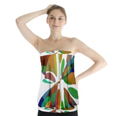 Colorful abstract flower Strapless Top