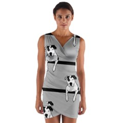 Pit Bull T Bone Wrap Front Bodycon Dress