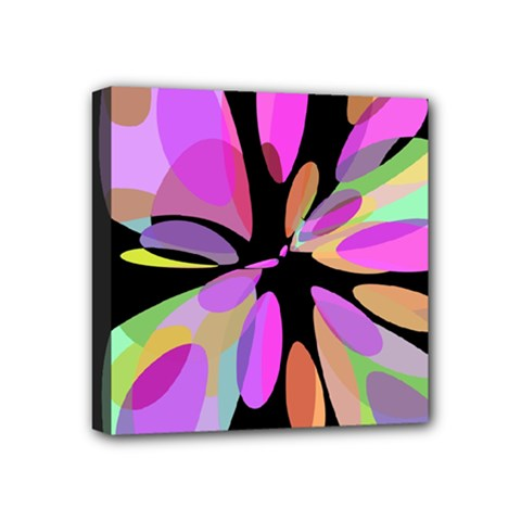Pink abstract flower Mini Canvas 4  x 4