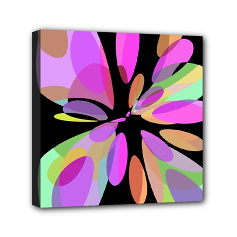 Pink abstract flower Mini Canvas 6  x 6