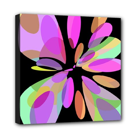 Pink abstract flower Mini Canvas 8  x 8
