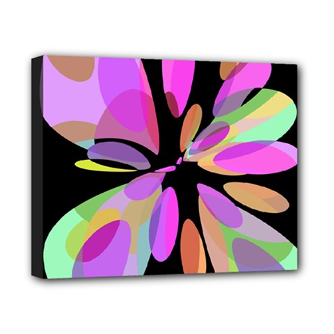 Pink abstract flower Canvas 10  x 8