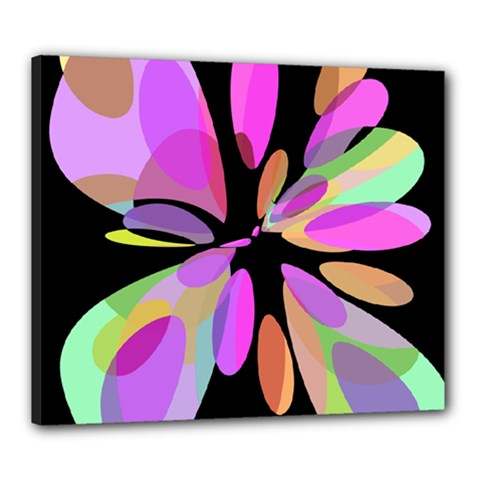 Pink abstract flower Canvas 24  x 20
