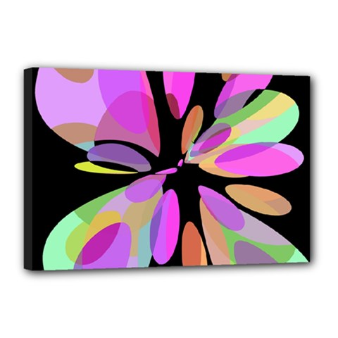 Pink abstract flower Canvas 18  x 12