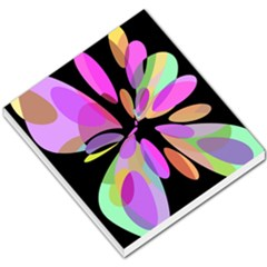 Pink abstract flower Small Memo Pads