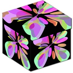 Pink abstract flower Storage Stool 12