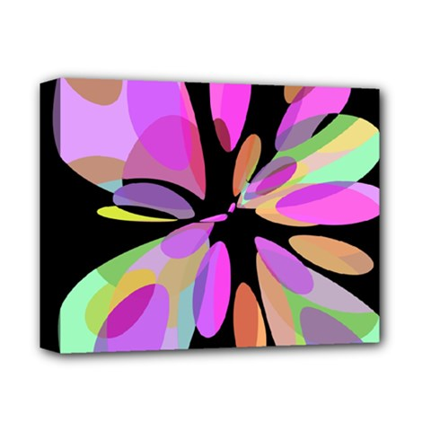 Pink abstract flower Deluxe Canvas 14  x 11