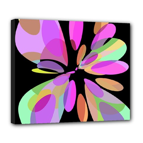 Pink abstract flower Deluxe Canvas 24  x 20