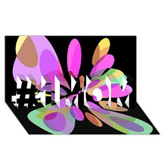 Pink abstract flower #1 MOM 3D Greeting Cards (8x4)