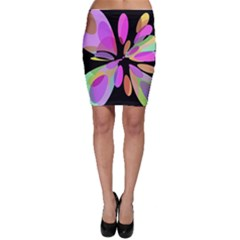 Pink abstract flower Bodycon Skirt