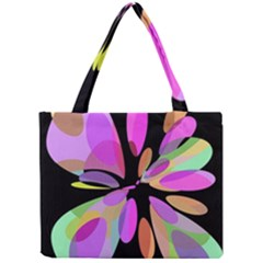 Pink abstract flower Mini Tote Bag
