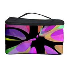 Pink abstract flower Cosmetic Storage Case