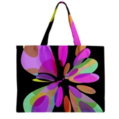 Pink abstract flower Zipper Mini Tote Bag