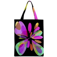 Pink abstract flower Zipper Classic Tote Bag