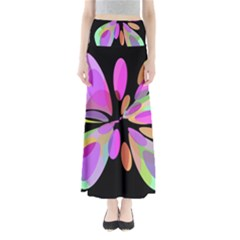 Pink abstract flower Maxi Skirts