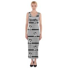 Pit Bull T-Bone Fitted Maxi Dress