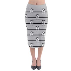 Pit Bull T-Bone Midi Pencil Skirt