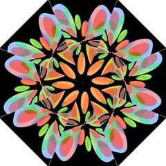 Colorful abstract flower Folding Umbrellas