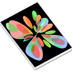 Colorful abstract flower Large Memo Pads