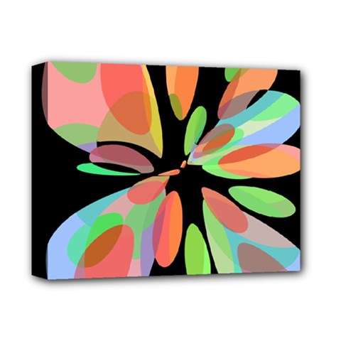 Colorful abstract flower Deluxe Canvas 14  x 11