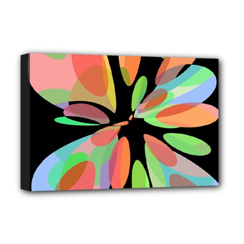 Colorful abstract flower Deluxe Canvas 18  x 12