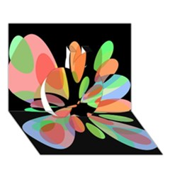 Colorful abstract flower Apple 3D Greeting Card (7x5)