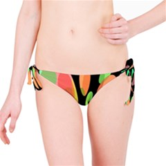 Colorful abstract flower Bikini Bottom