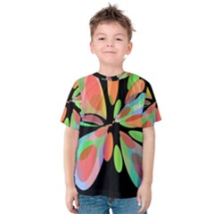 Colorful abstract flower Kid s Cotton Tee