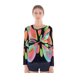 Colorful abstract flower Women s Long Sleeve Tee