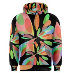 Colorful abstract flower Men s Zipper Hoodie
