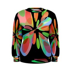 Colorful abstract flower Women s Sweatshirt