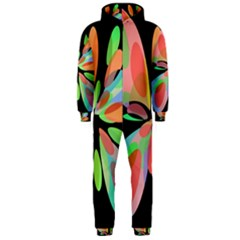 Colorful abstract flower Hooded Jumpsuit (Men)