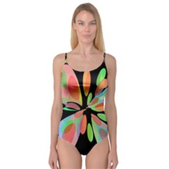 Colorful abstract flower Camisole Leotard