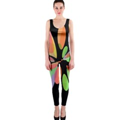 Colorful abstract flower OnePiece Catsuit