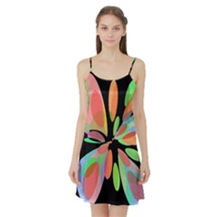 Colorful abstract flower Satin Night Slip