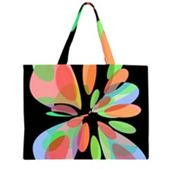 Colorful abstract flower Large Tote Bag