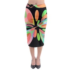 Colorful abstract flower Midi Pencil Skirt