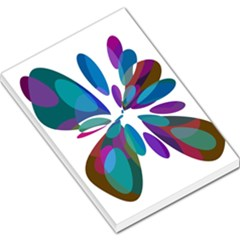 Blue abstract flower Large Memo Pads