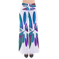 Blue abstract flower Pants