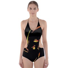 Orange twist Cut-Out One Piece Swimsuit