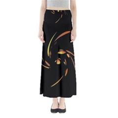 Orange Twist Maxi Skirts